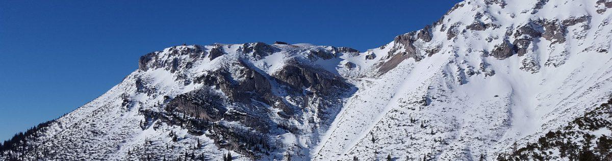2. Skitour: Preiner Gscheid – Waxriegelkamm – Heukuppe (2.007m) – Karlgraben