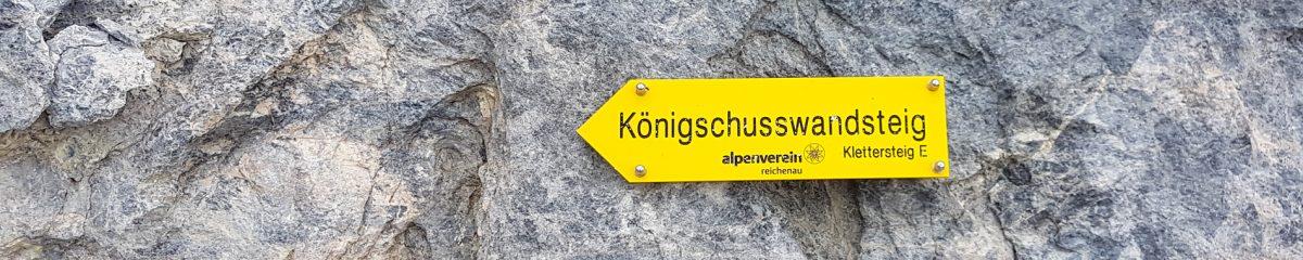 Klettersteig: Haidsteig – Königschusswandsteig